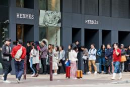 boutique luxe de Hermès à Hong-Kong