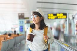 Femme chinoise voyage social media